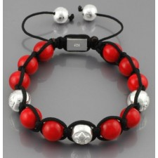 Shamballa red-silver Ball