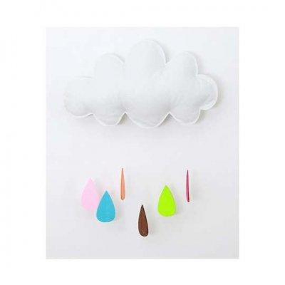 Ozdobný mrak s farebnými kvapkami