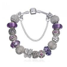 Pandora style náramok Violet II