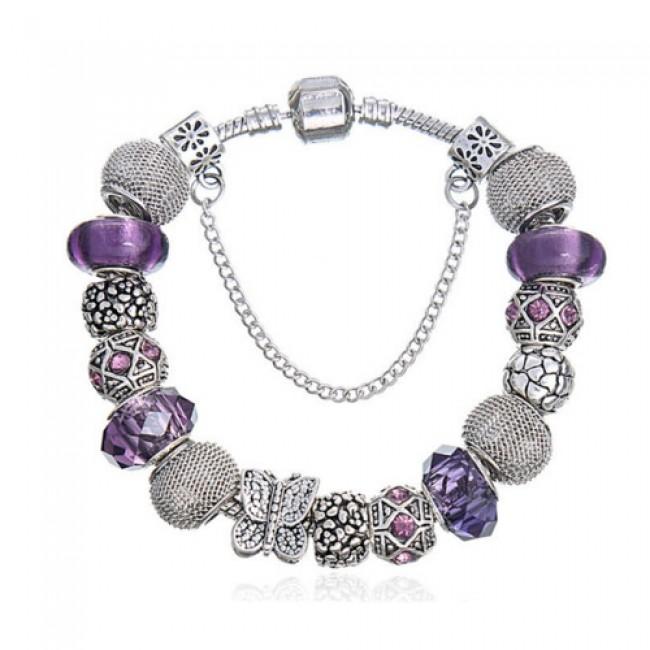 Pandora style náramok Violet II  820e301de87