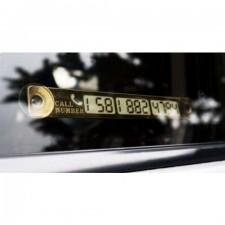Parkovacia ceduľka s telefónnym číslom