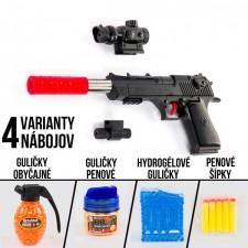 Pištoľ NOAH s laserovým zameriavaním