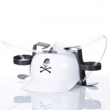 Pivná helma biela s lebkou