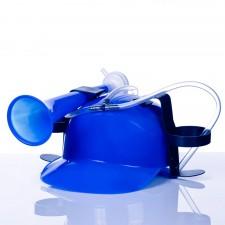 Pivná helma modrá s trúbkou
