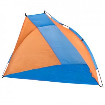 Plážový stan Springos 220 x 115 CM - modro-oranžový