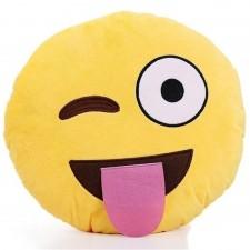 Plyšový vankúš smajlik SMILE TONGUE