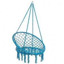 Springos hojdacie kreslo s operadlom a so strapcami - 60x60x44cm - modré