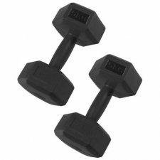 SPRINGOS Jednoručné činky 5kg čierne - 2ks