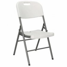 SPRINGOS Skladacia stolička - biela