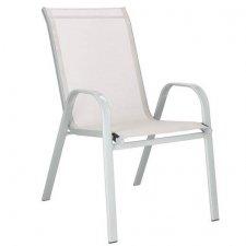 SPRINGOS Záhradná stolička kov - krémová