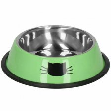 SPRINGOS Miska pre mačky - kov+guma - zelená