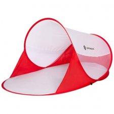 SPRINGOS Samorozkladací plážový Pop up stan 200x120 cm - bielo červený