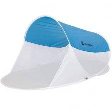 SPRINGOS Samorozkladací plážový Pop up stan 200x120 cm - bielo modrý