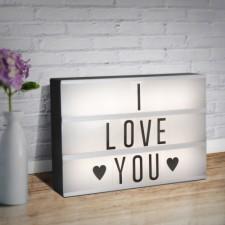LED svietiaca krabička s voliteľným nápisom