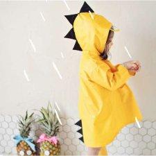 Pršiplášť pre deti - žltý dráčik - L