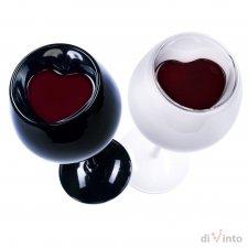 Romantické poháre na víno – Mr&Mrs