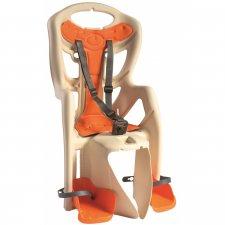 Sedačka na bicykel pre deti BELLELLI PEPE standard - béžovo-oranžová