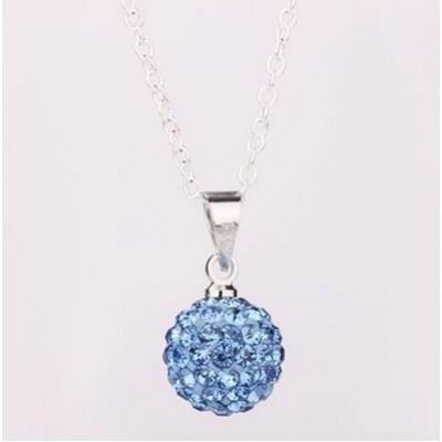 Shamballa náhrdelník medium blue