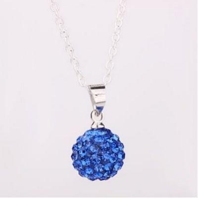 Shamballa náhrdelník blue