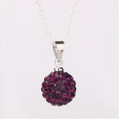 Shamballa náhrdelník dark violet