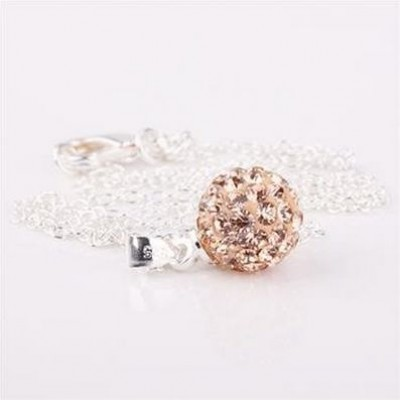 Shamballa náhrdelník gold brown