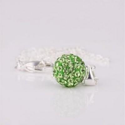 Shamballa náhrdelník green