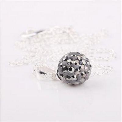 Shamballa náhrdelník dark grey