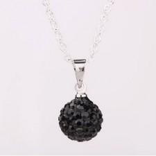 Shamballa náhrdelník black