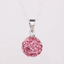 Shamballa náhrdelník pink