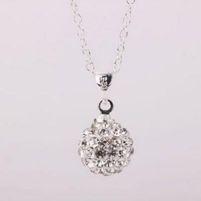 Shamballa náhrdelník silver