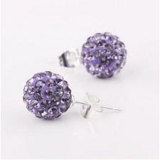 Shamballa náušnice violet