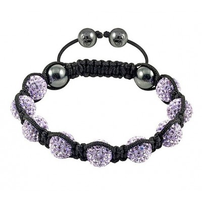 Shamballa náramok violet