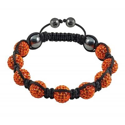 Shamballa náramok orange
