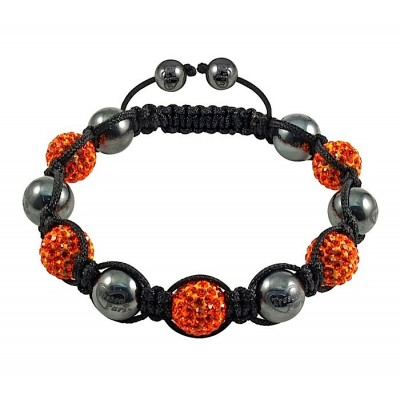 Shamballa náramok metal orange