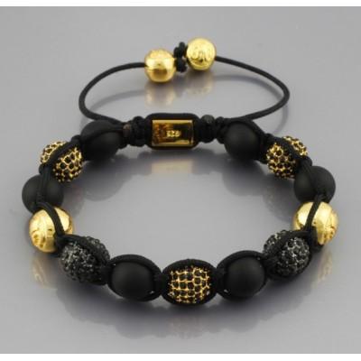 Shamballa náramok LUXURY gold