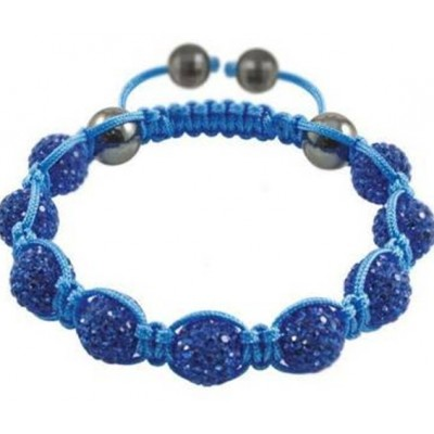 Shamballa náramok blue-blue
