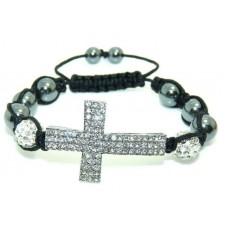 Shamballa náramok silver Cross