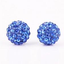 Shamballa náušnice Blue