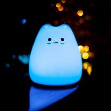 Silikónová nočná lampa Little Cat
