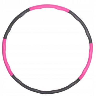 Skladací Hula Hop - 83cm - ružová-sivá