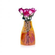 Skladacia váza: Oranžový medailón