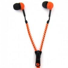 Slúchadlá so zipsom: oranžové