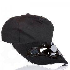 Solárna šiltovka s ventilátorom - čierna