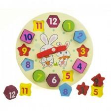 Drevené hodiny – vzdelávacia hračka
