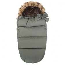 SPRINGOS Fusak Luxury s kožušinou 4v1 - Khaki