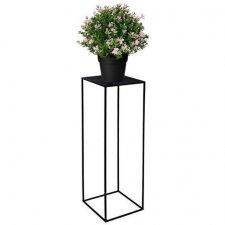 SPRINGOS Kovový stojan na kvety - 100cm - čierny matný