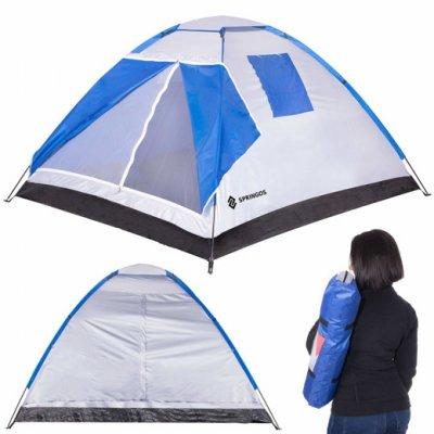 SPRINGOS Turisticky stan pre 4 osoby s UV filtrom 2x2m - modro-biely
