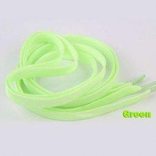 Svietiaca šnúrka do topánok - zelená - 1m