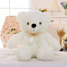 Svietiaci plyšový medvedík 45cm - Biely