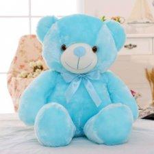 Svietiaci plyšový medvedík 45cm - Modrý